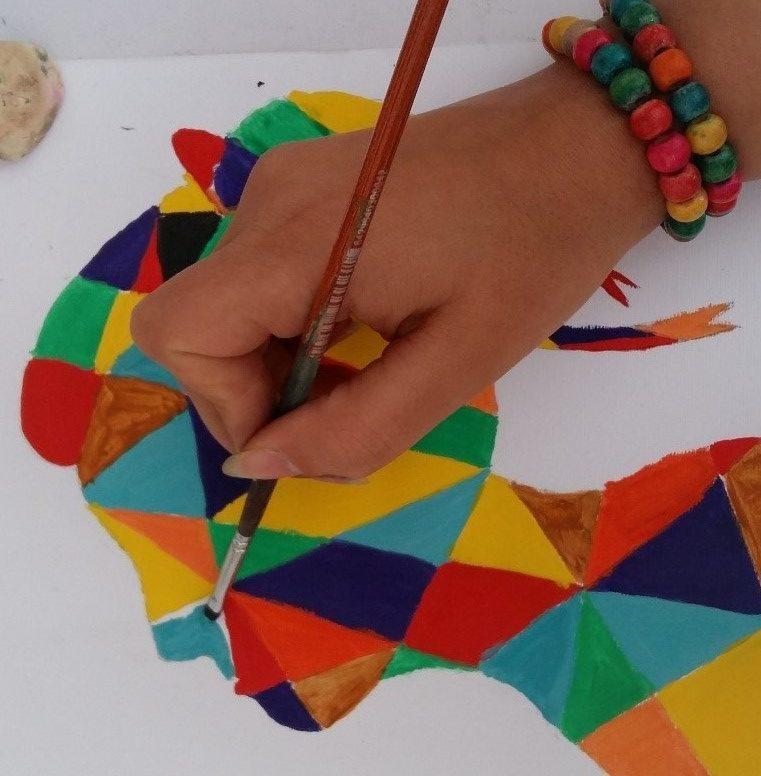 آموزش نقاشی با گواش روی بوم 14