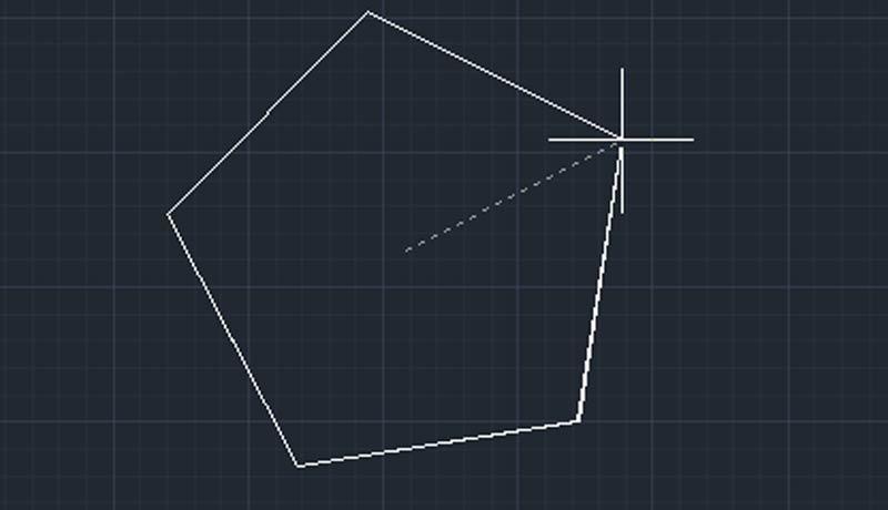چند ضلعی در اتوکد