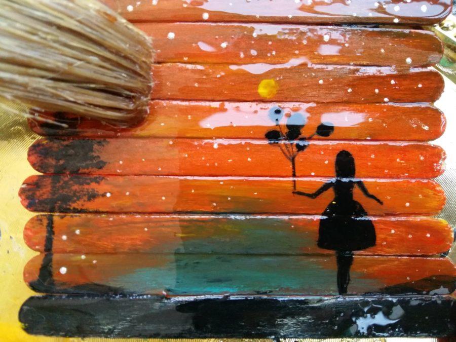 روغن جلا در نقاشی روی چوب