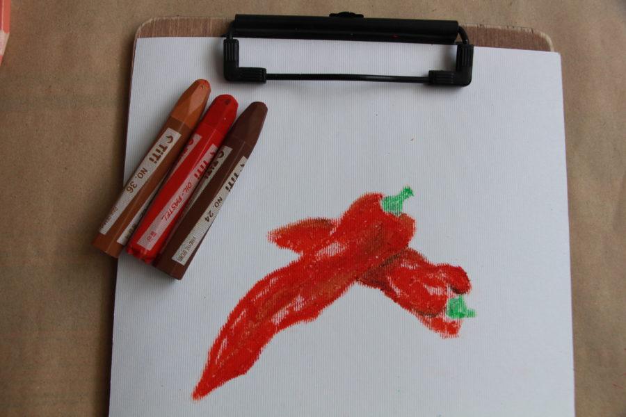 نقاشی با مداد شمعی چگونه است؟ 2