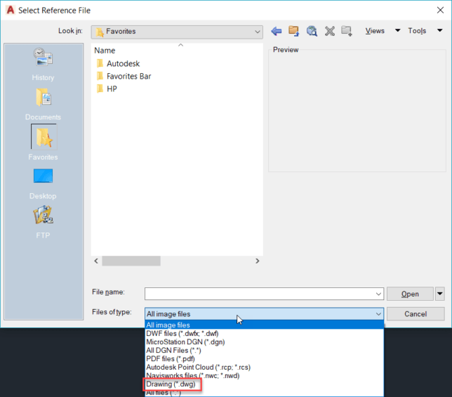 نوع فایل در اسکیل اتوکد